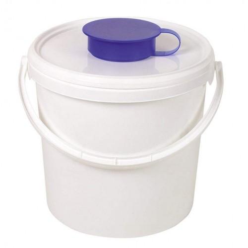 Ведро-диспенсер для дезинфицирующих салфеток в рулонах 6.2л Ampri 09995-L