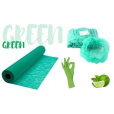 Набор расходных материалов: простынь, перчатки, шапочки - одноразовый, зеленого цвета