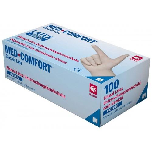 Перчатки латексные без пудры Ampri MED COMFORT 01030-M
