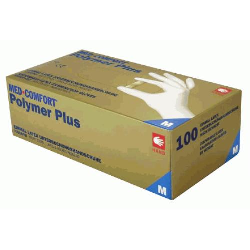Перчатки латексные без пудры Ampri POLIMER PLUS 01034-L