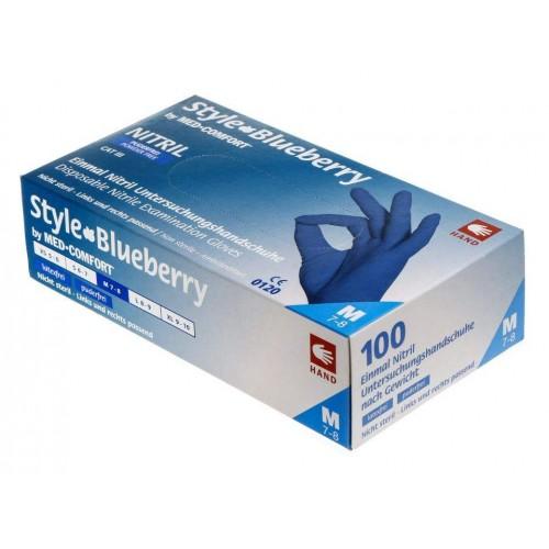 Перчатки нитриловые без пудры Ampri STYLE COLOR Blueberry 01183-L