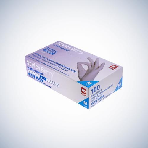 Перчатки нитриловые без пудры Ampri STYLE COLOR BERRY 01184--XL