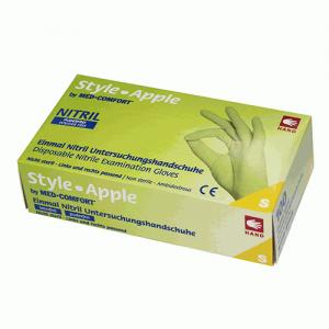Рукавички нітрилові зелені без пудри Ampri Style color Apple 01187-M