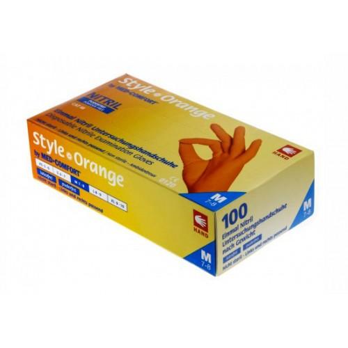 Перчатки нитриловые без пудры Ampri Style color Orange 01188-L