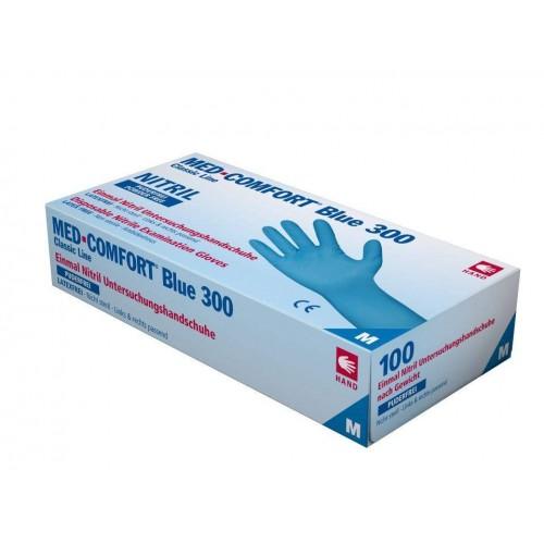 Перчатки нитриловые без пудры Ampri BLUE COMFORT 300 01191-L