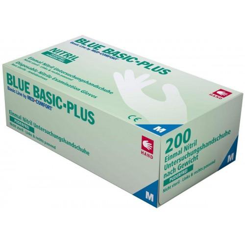Перчатки нитриловые без пудры Ampri BLUE BASIC PLUS 01197-L