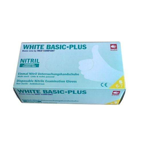 Перчатки нитриловые без пудры Ampri WHITE BASIC-PLUS 01200-L