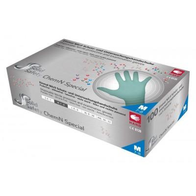 Рукавички нітрилові без пудри Ampri SOLID SAFETY CHEM N 081303-XXL