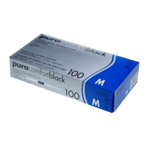 Перчатки нитриловые Ampri Pura Comfort Black 118-038-L