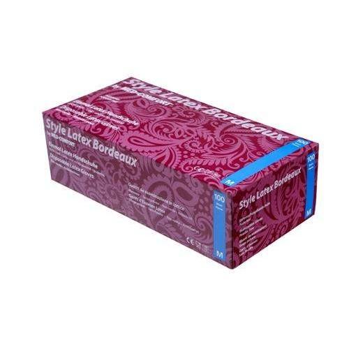 Перчатки латексные без пудры Ampri STYLE LATEX BORDEAUX 14-009-L
