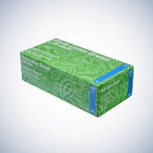 Перчатки латексные без пудры Ampri STYLE LATEX GREEN 14-026-L