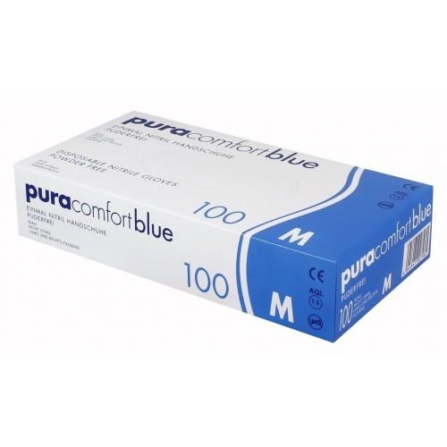 Перчатки нитриловые Ampri Pura Comfort Blue 970-013-S