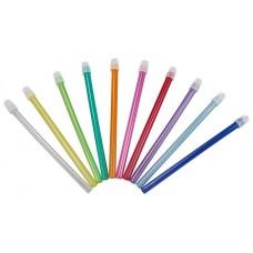 Слюноотсос пластиковый синий (124х8 мм) Ampri 09010-B