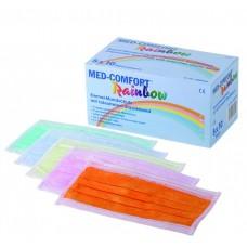 Маска защитная цветная Rainbow, Ampri МED COMFORT 02201-Mix