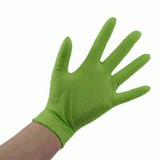 Перчатки нитриловые зеленые без пудры Ampri Style color Apple 01187-XL
