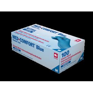 Рукавички нітрилові без пудри Med Comfort blue 01192-XXL