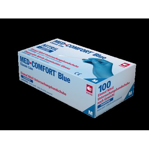 Перчатки нитриловые без пудры Med Comfort blue 01192